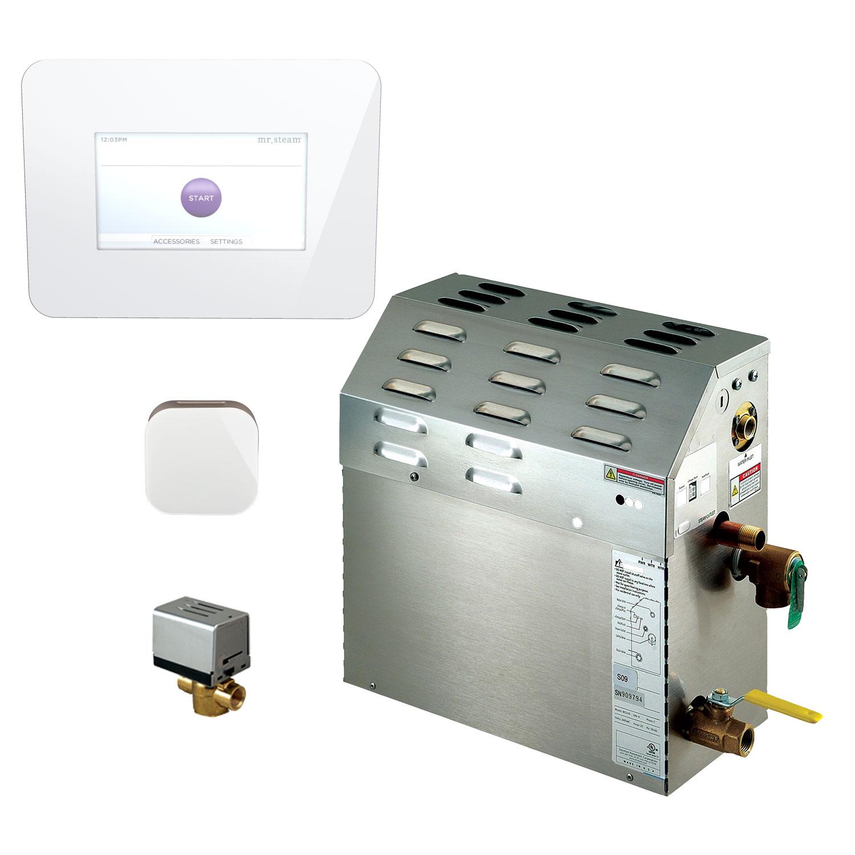 Mr Steam 7 5 Kw Steam Bath Generator With Isteam3 Autoflush Package In White 225c1ai3wh