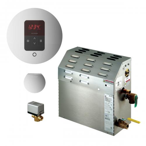 Mr Steam MS400EC1 - 9kW Steam Bath Generator with iTempo Autoflush Round Package 400C1ATRD