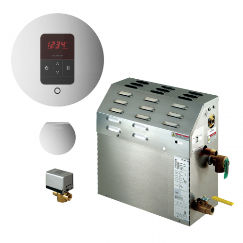 Mr Steam MS225EC1 - 7.5kW Steam Bath Generator with iTempo Autoflush Round Package 225C1ATRD