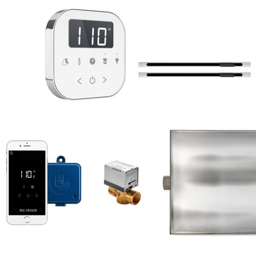 Mr Steam White AirButler MAX Package with Linear Steam Head