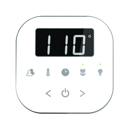 Mr Steam AirTempo Control Package in White AIRTWH - Polished Chrome