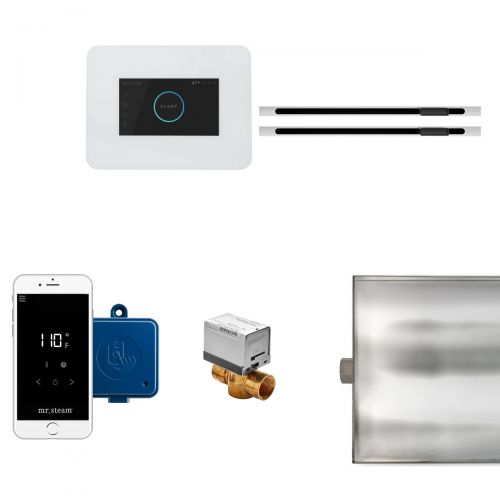 Mr Steam White iButler Max Package with Linear Steam Head