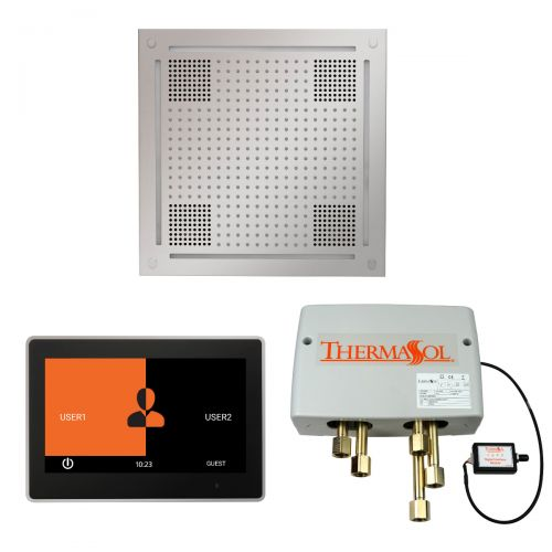 """Thermasol Wellness Hydrovive Shower Package w/10"""" ThermaTouch Square Control"""