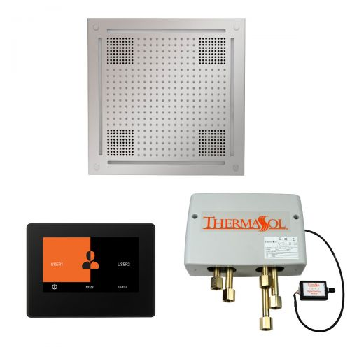 """Thermasol Wellness Hydrovive Shower Package w/7"""" ThermaTouch Square"""