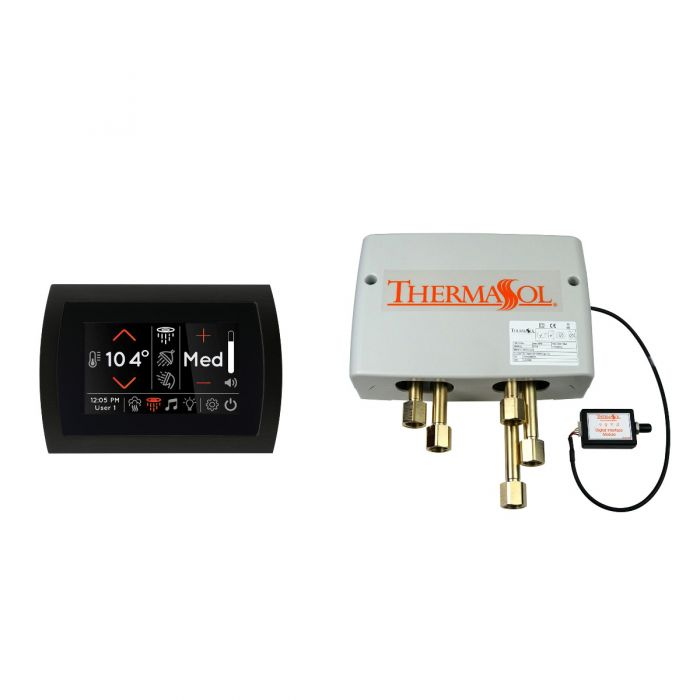 Thermasol Digital Shower Package with Black SignaTouch Control